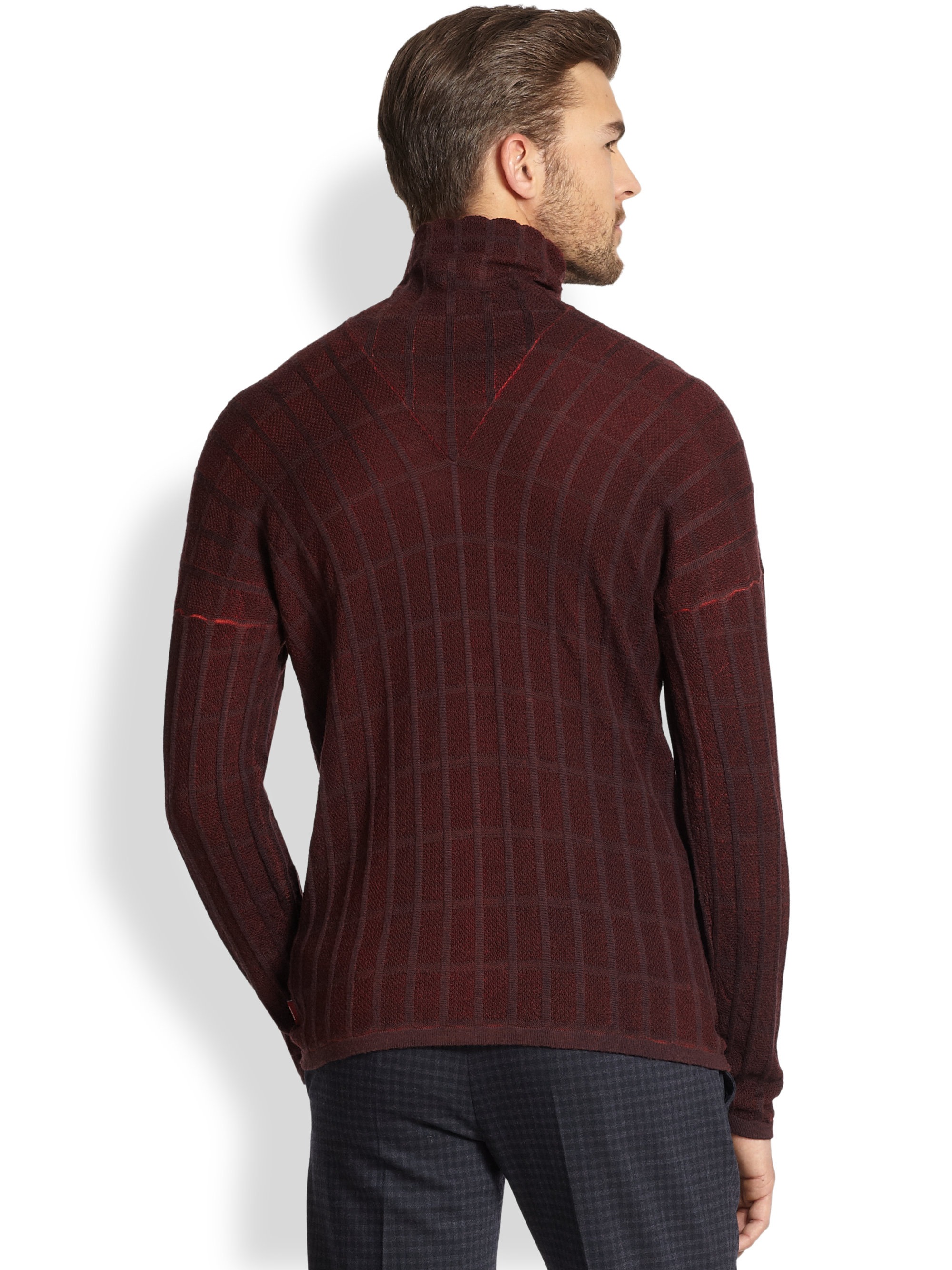 Armani Turtleneck Sweater in Brown for Men | Lyst