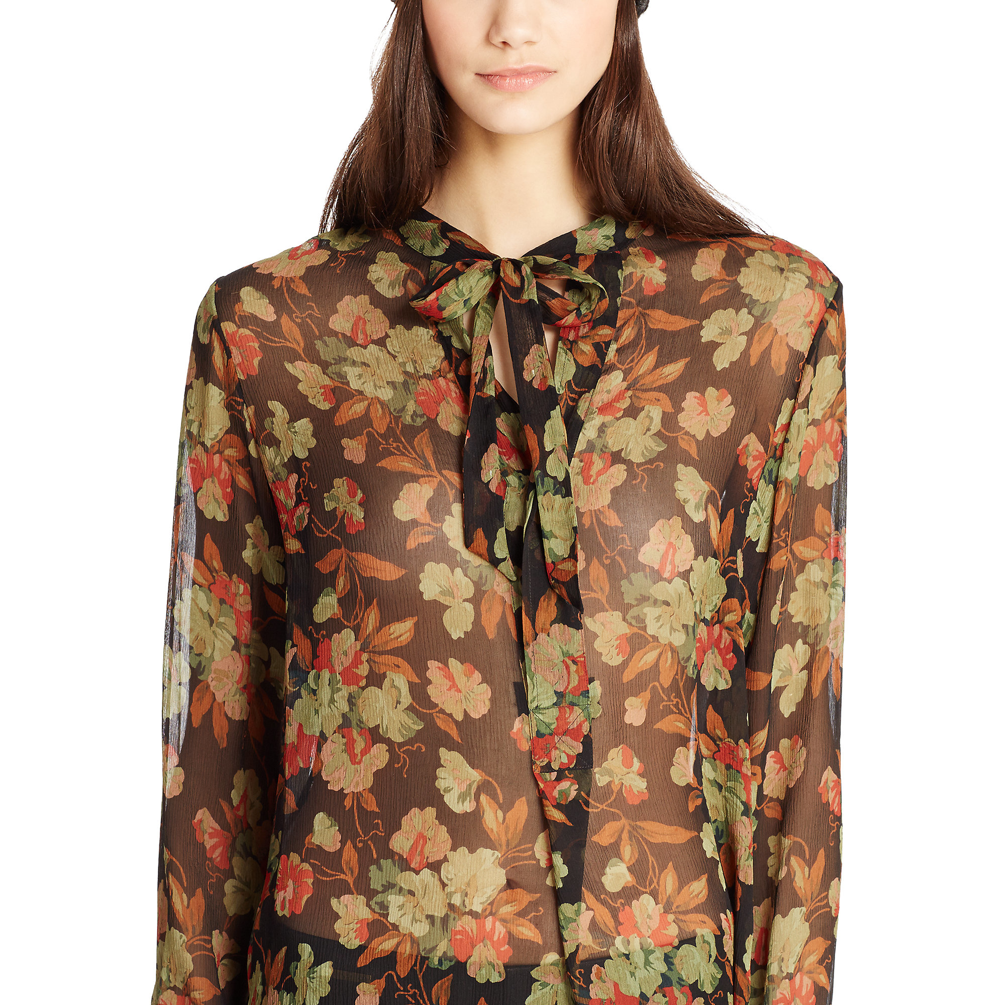 2508e748d Polo Ralph Lauren Floral-print Silk Tunic - Lyst