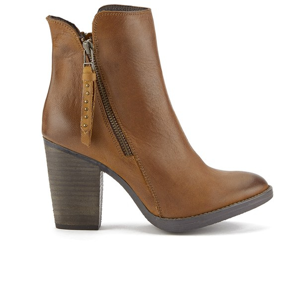Womens Brown Leather Ankle Boots - Cr Boot