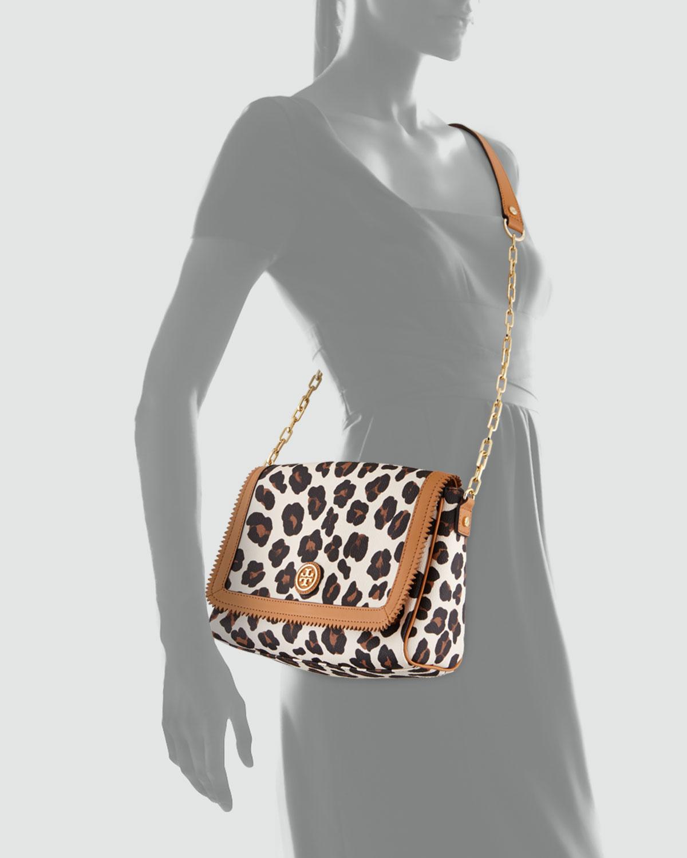 6c99d750b94 Lyst - Tory Burch Kerrington Leopardprint Crossbody Bag