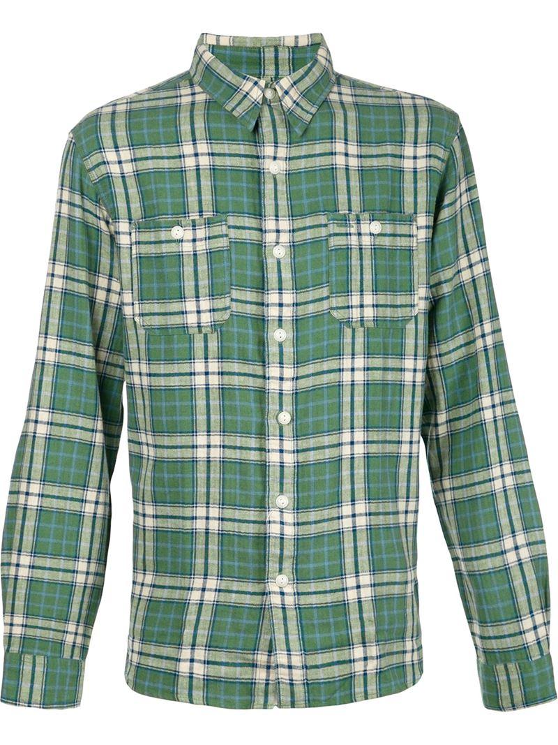 Rrl Plaid Shirt In Green For Men Lyst
