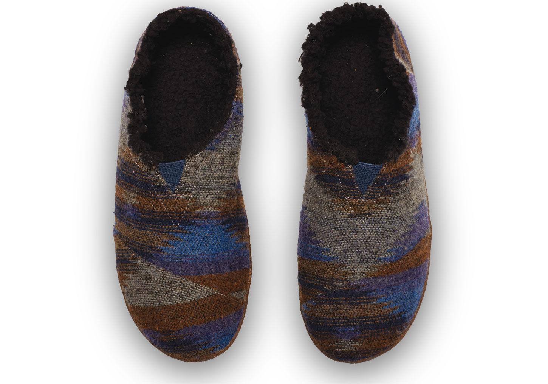 9de6e1e2cfe TOMS Blue Wool Men s Slippers in Blue for Men - Lyst