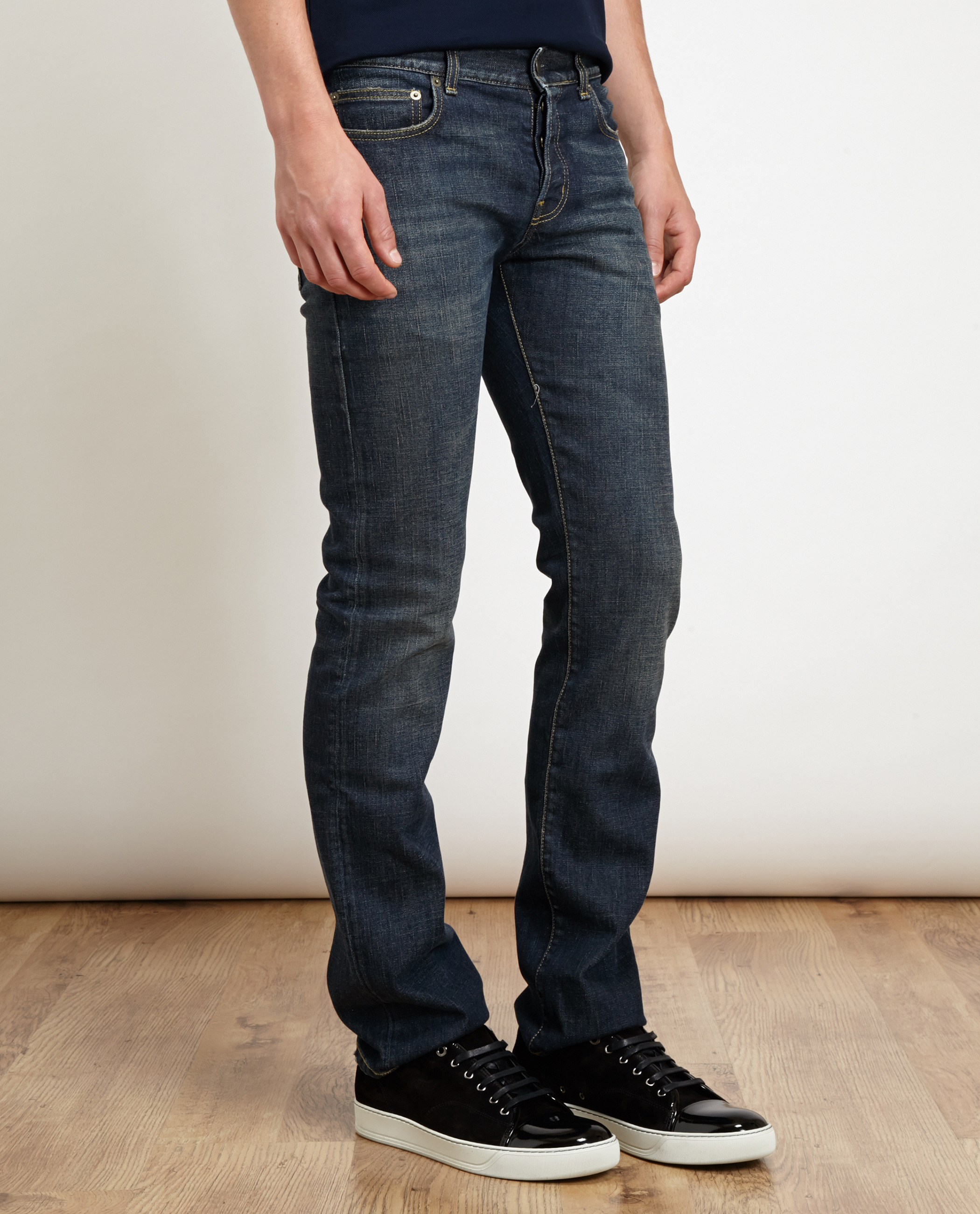 Saint laurent Lightly Distressed Jeans in Blue for Men | Lyst