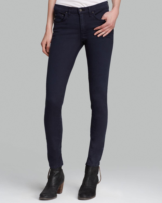 Rag & bone Jeans - The Skinny In Distressed Navy in Blue | Lyst