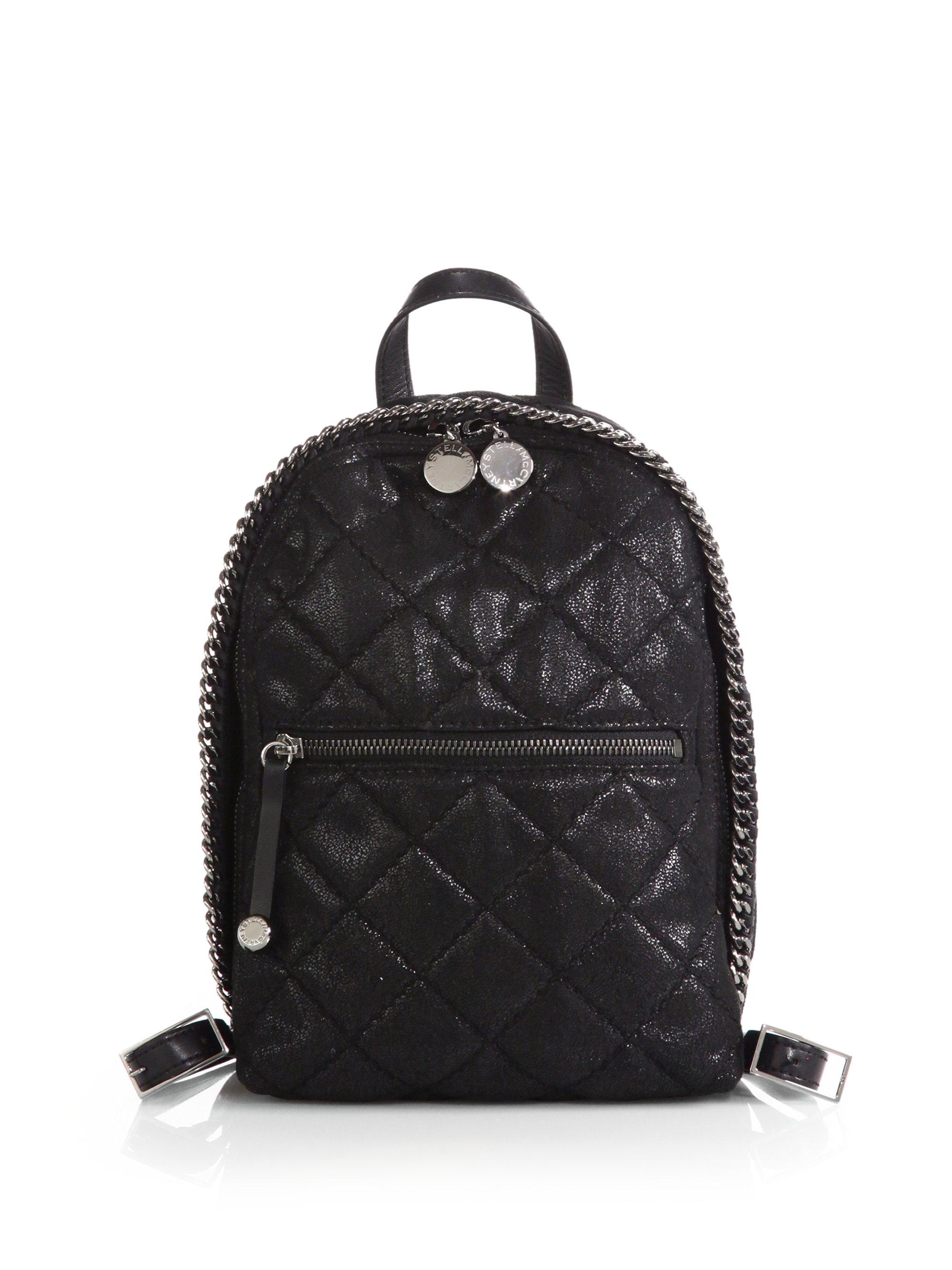 Lyst - Stella mccartney Quilted Faux-leather Mini Backpack in Black : quilted faux leather backpack - Adamdwight.com