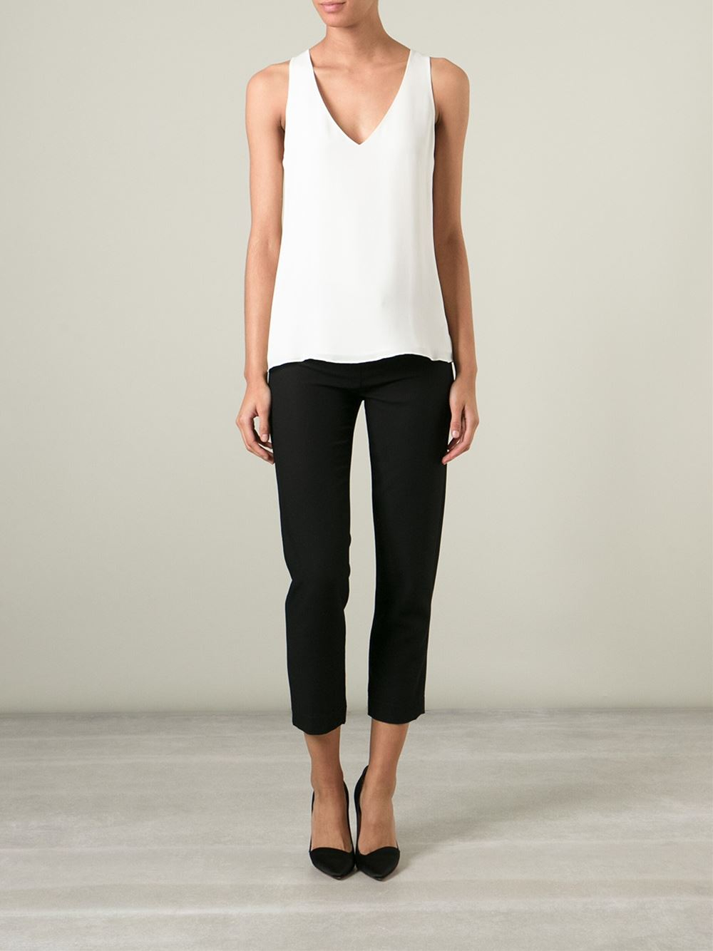 f1eac67dc7 Theory V-Neck Tank Top in White - Lyst