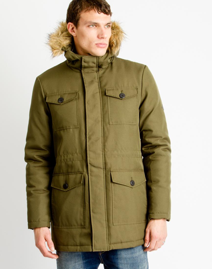 Only & sons Mens Parka Coat Khaki in Natural for Men | Lyst