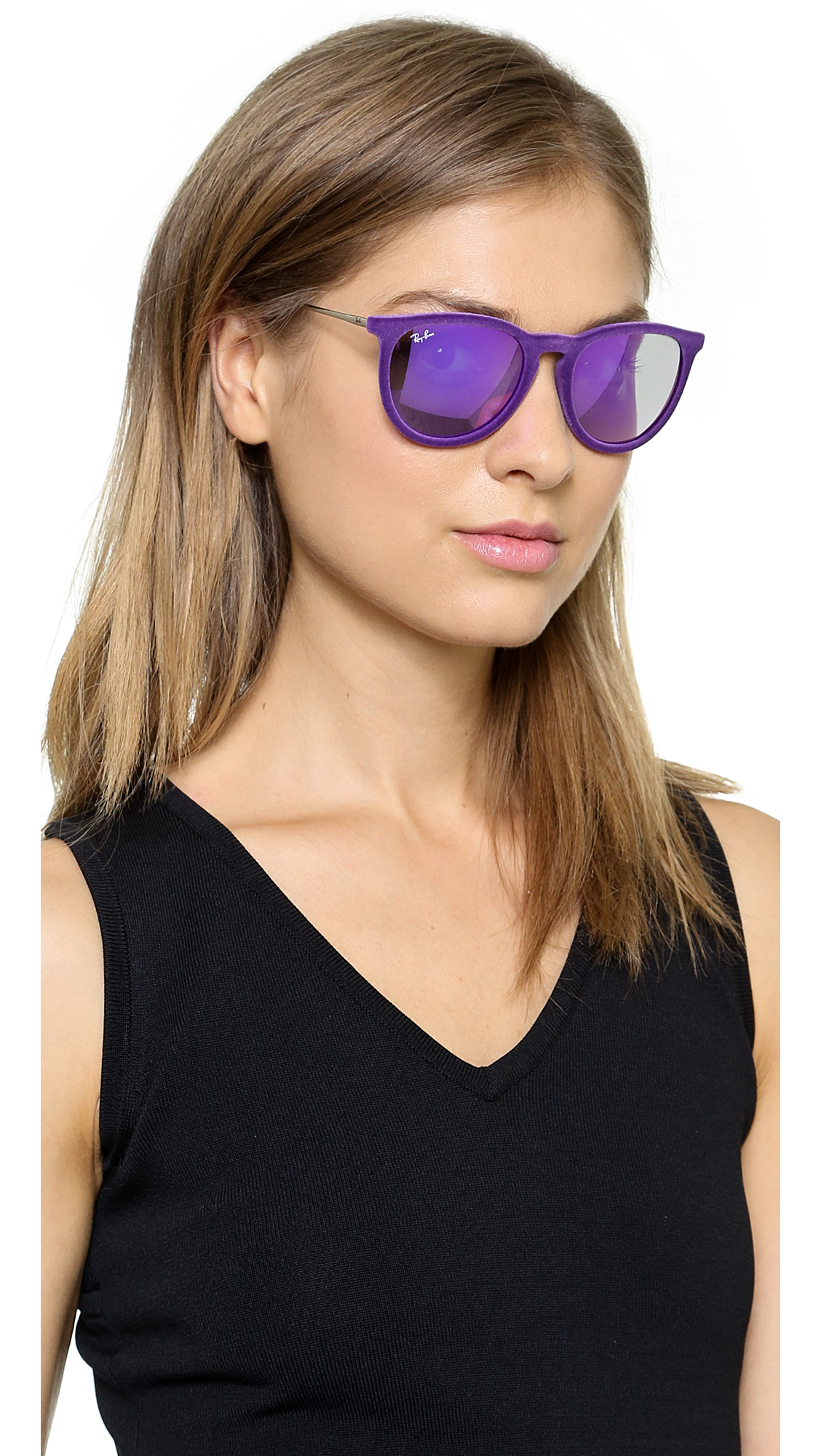 2508bb1759 Ray-Ban Erika Velvet Sunglasses - Violet in Purple - Lyst