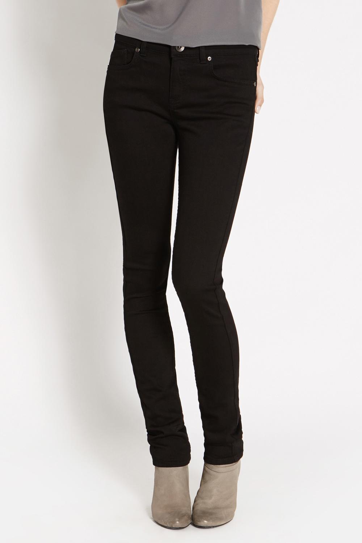 5e3551dbca00 Oasis Cherry Slim Fit Black Jeans in Black - Lyst