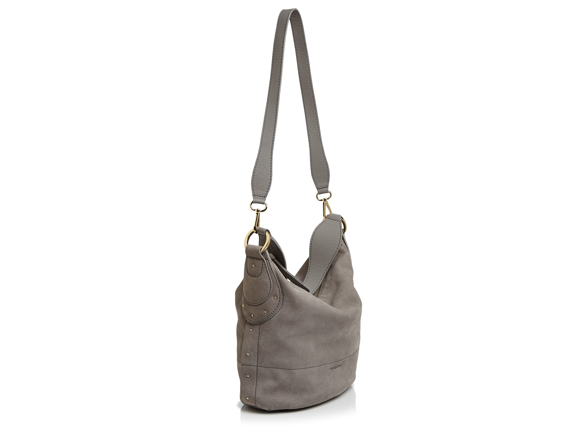 f15d206c291d Lyst - See By Chloé See By Chloé Janis Nubuck Hobo in Gray