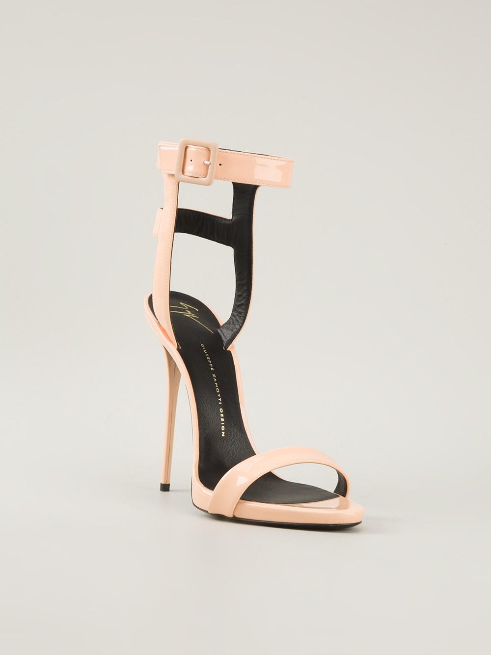 3258418f0493 ... denmark giuseppe zanotti cage sandals in pink lyst d6bca fe0b6