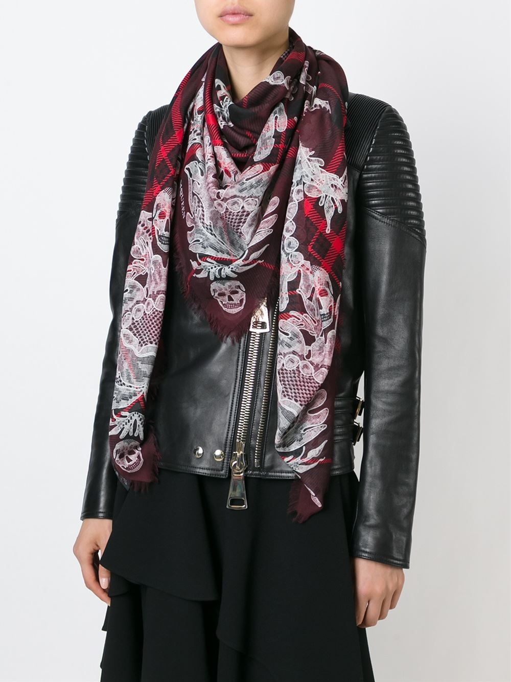 Buy Mcqueen alexander scarf red photo picture trends