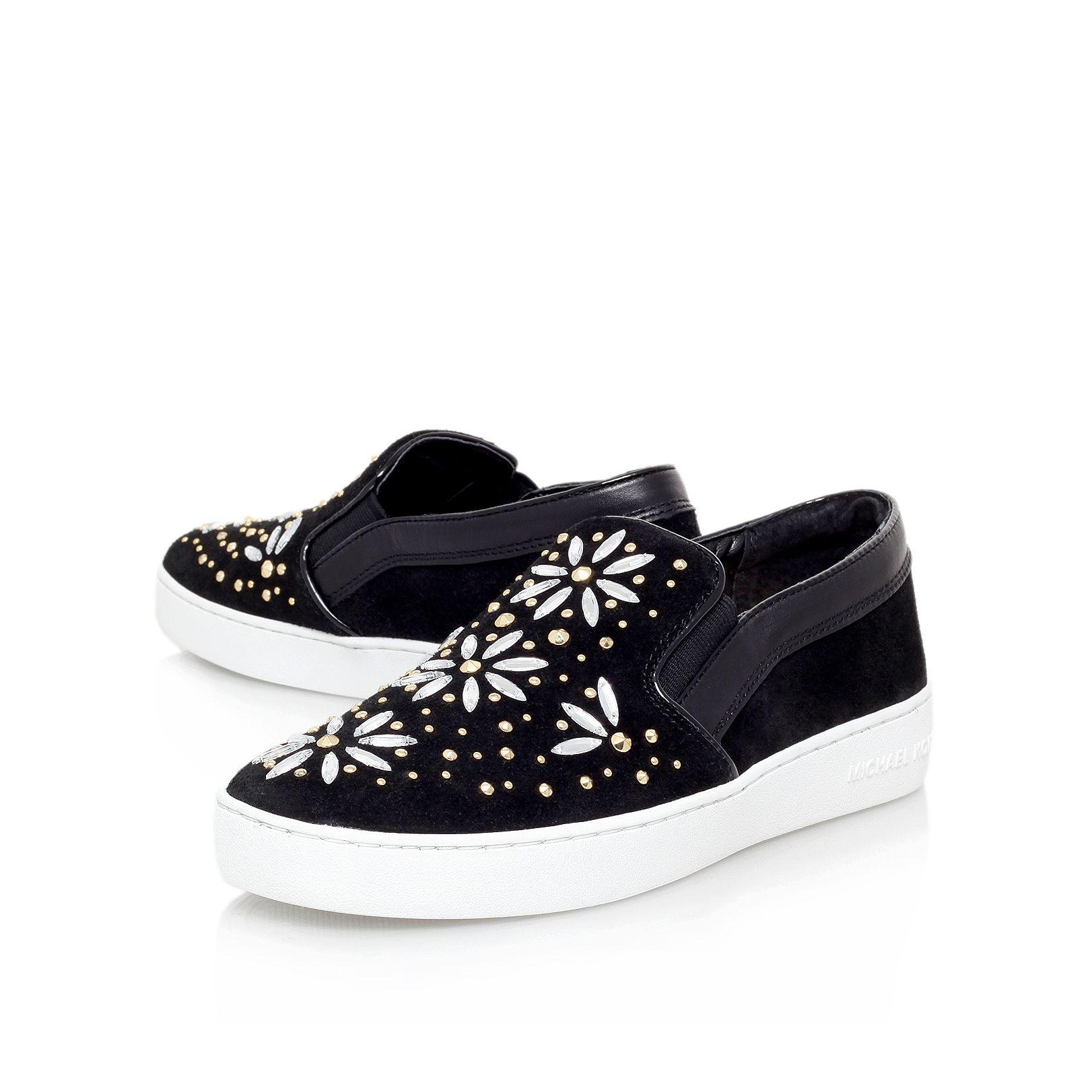 michael kors nadine slip on shoes in black lyst