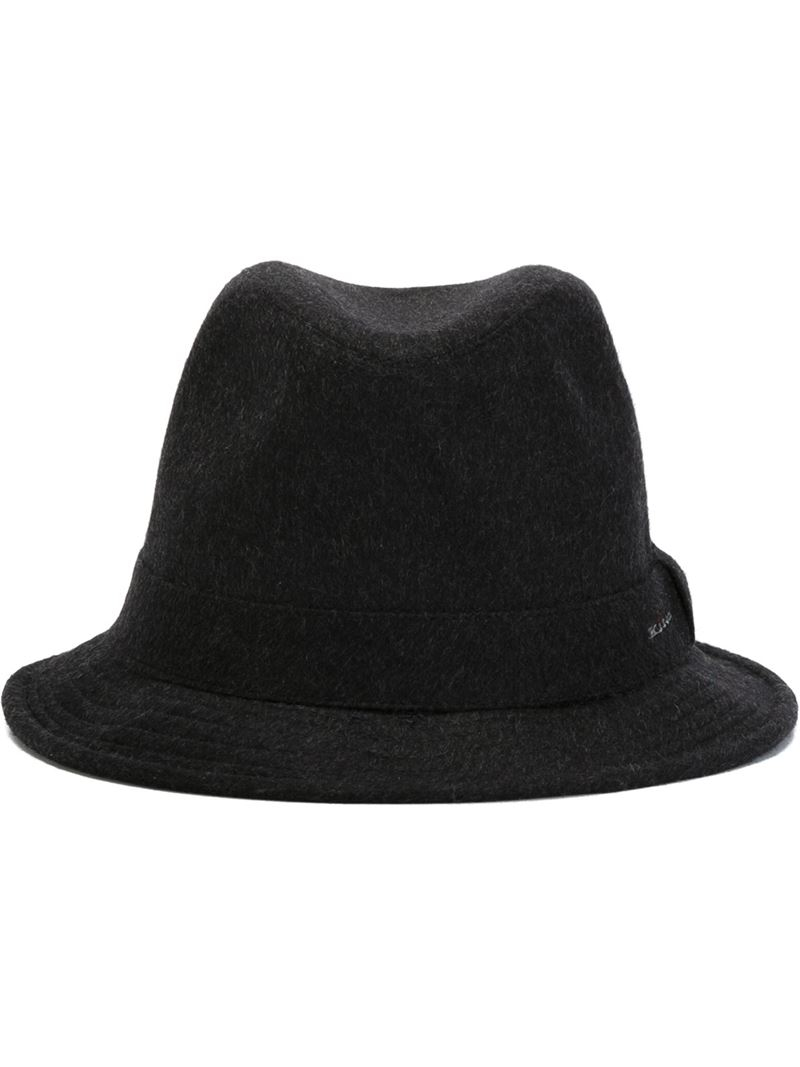 a7980cb2391 Lyst - Kiton Felt Trilby Hat in Gray for Men