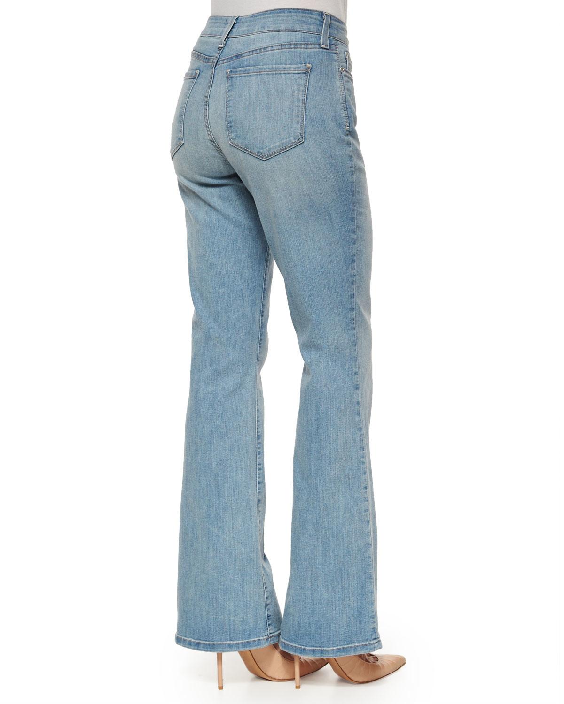 Nydj Farrah Flare-Leg Jeans in Blue | Lyst