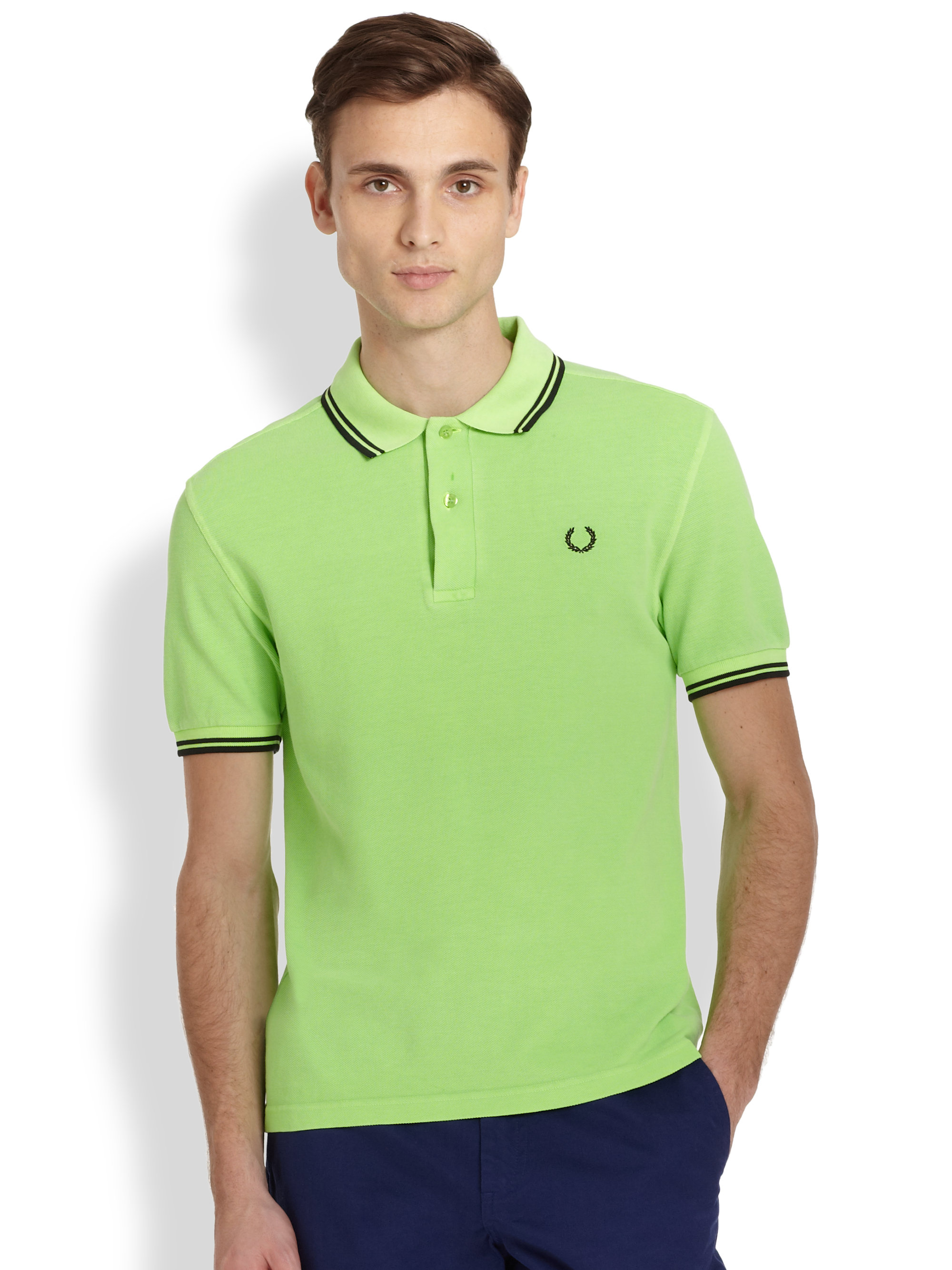 6561f872 Fred Perry Acid Hue Polo in Green for Men - Lyst
