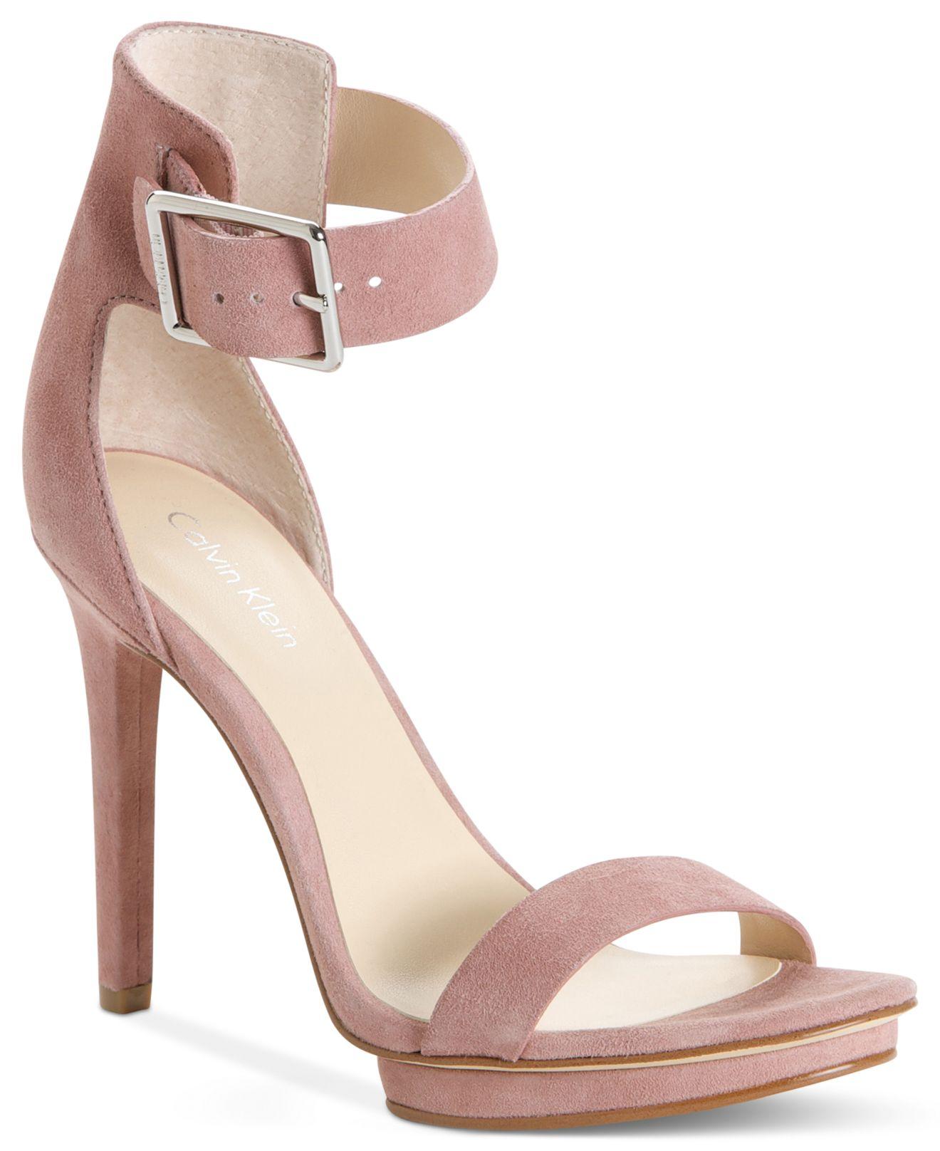 3591af89d98d Lyst - Calvin Klein Women S Vivian High Heel Sandals in Blue