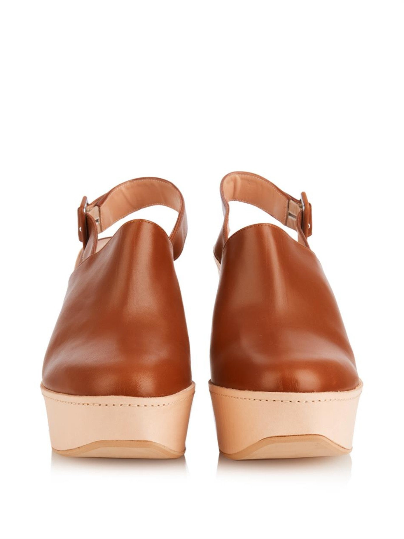Robert Clergerie Leather Wedge Clogs cheap 100% guaranteed jaFKG