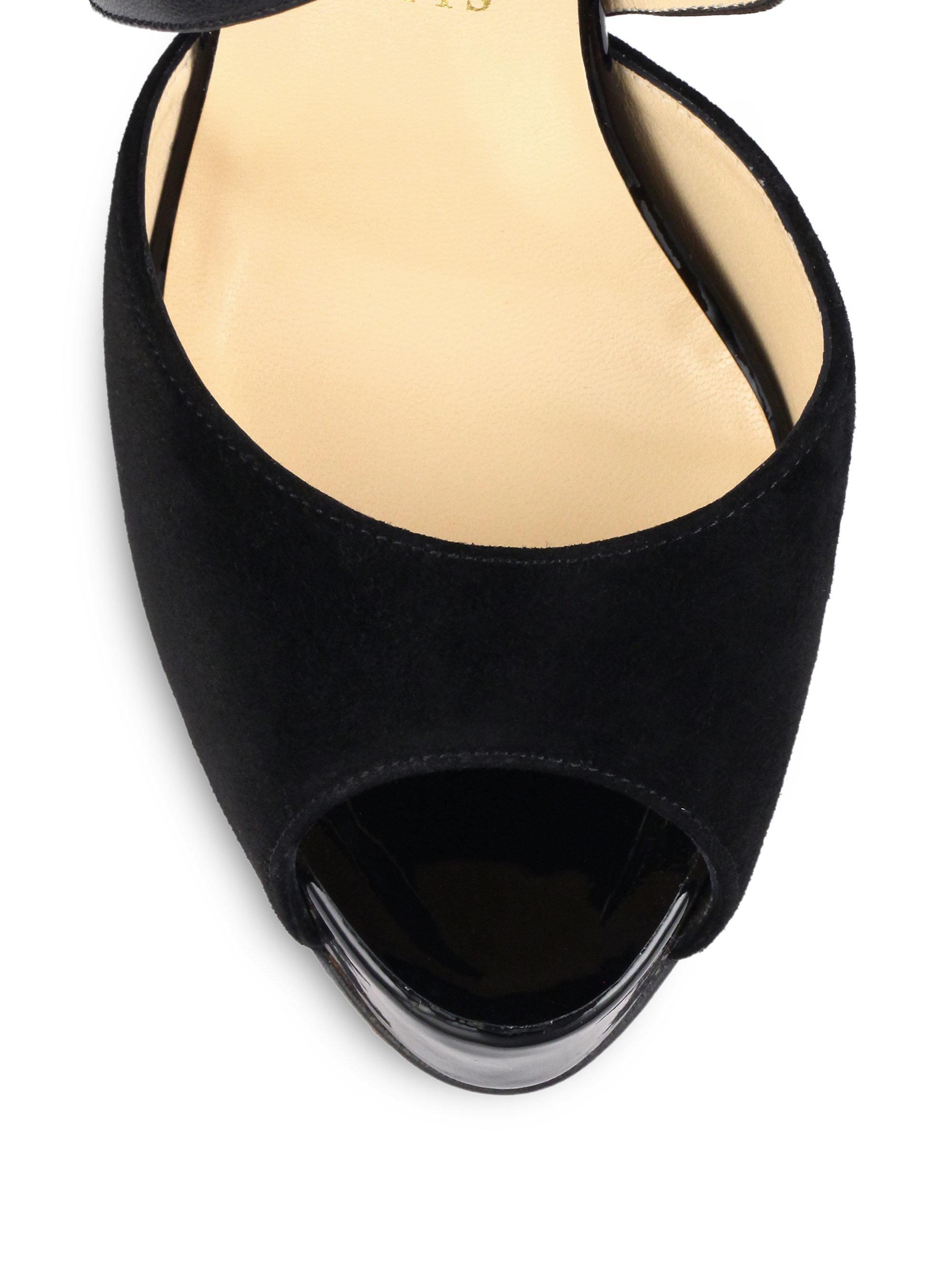 louboutin shoes - Christian louboutin Cross Minetta Suede & Python Platform Pumps in ...