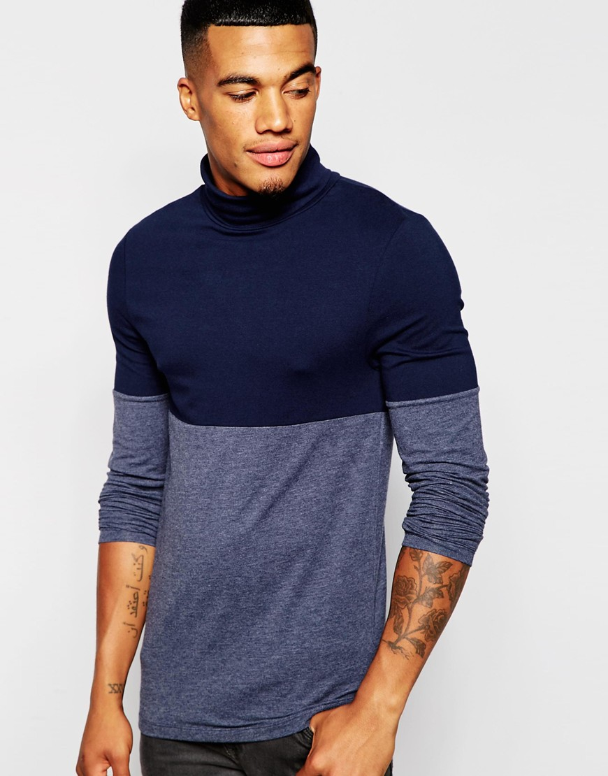 b5c90354 ASOS Extreme Muscle Long Sleeve T-shirt With Roll Neck And Colour ...