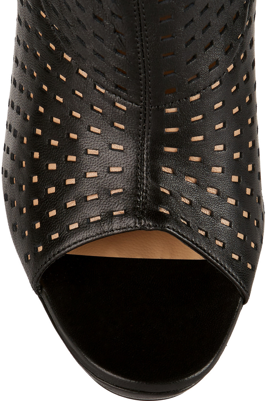 louboutin jennifer perforated leather boots