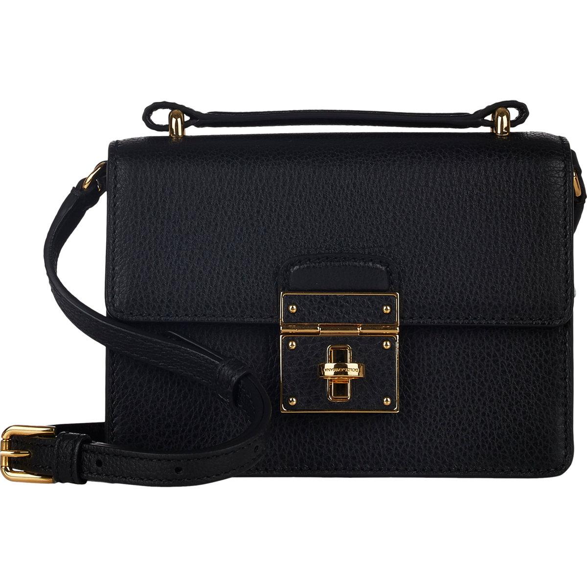 93453cb5c3f9 Lyst - Dolce   Gabbana Rosalia Mini Trunk Crossbody Bag in Black