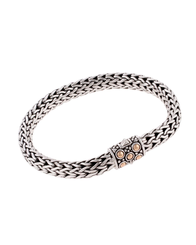 John Hardy Dot Silver & 18k Gold Oval Bracelet, Medium