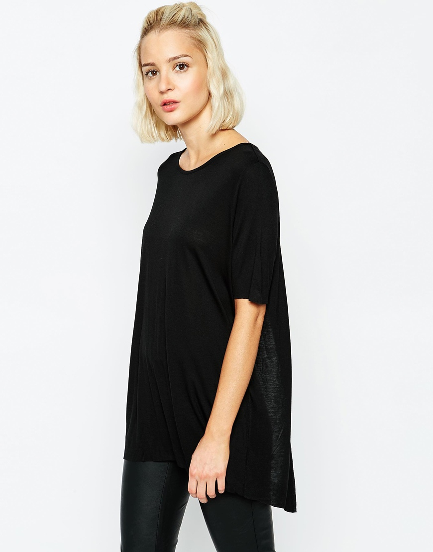 84abe847298bf6 Cheap Monday Open Back T-Shirt in Black - Lyst