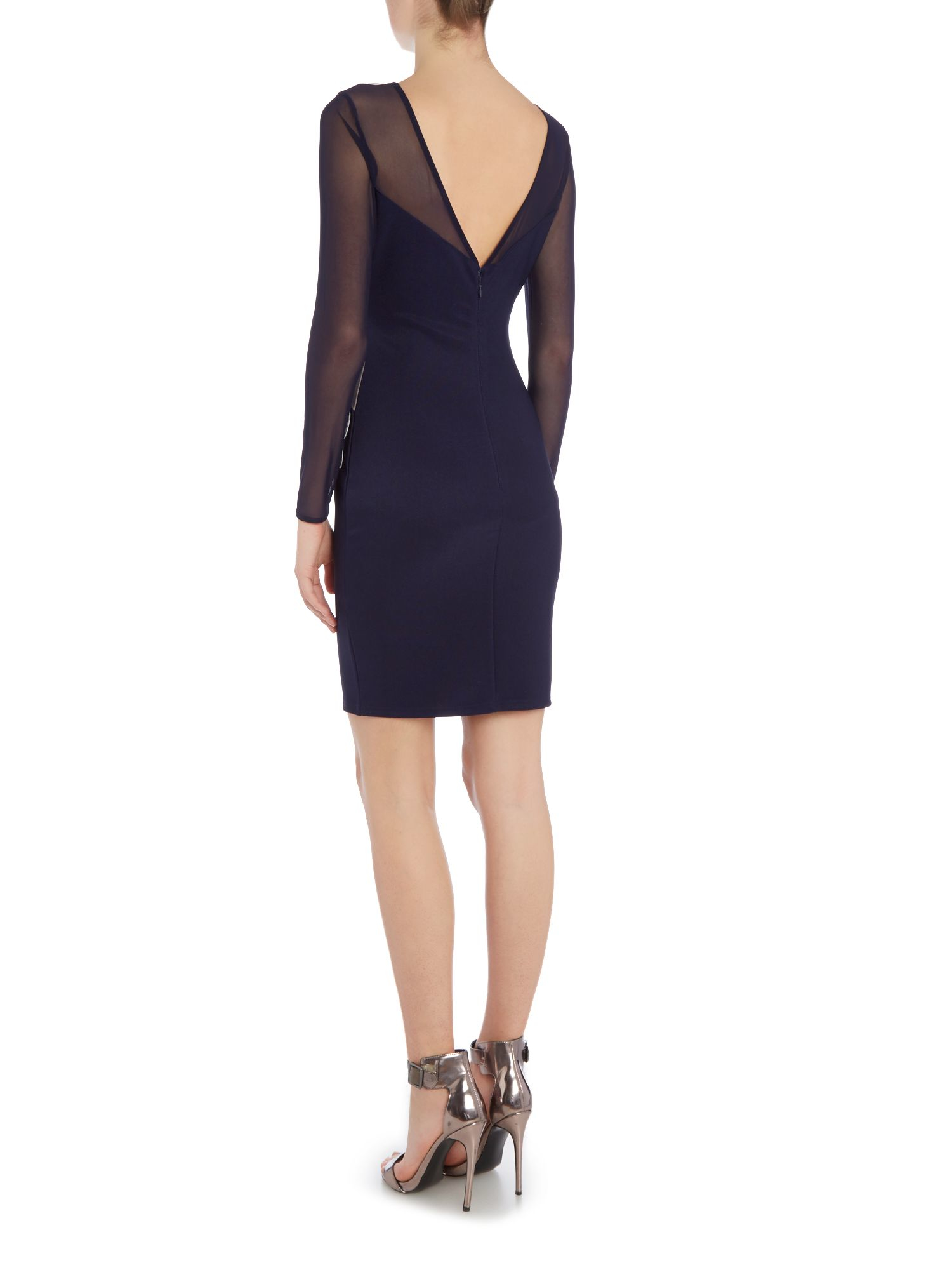With boots lipsy blue bodycon dress for graduation