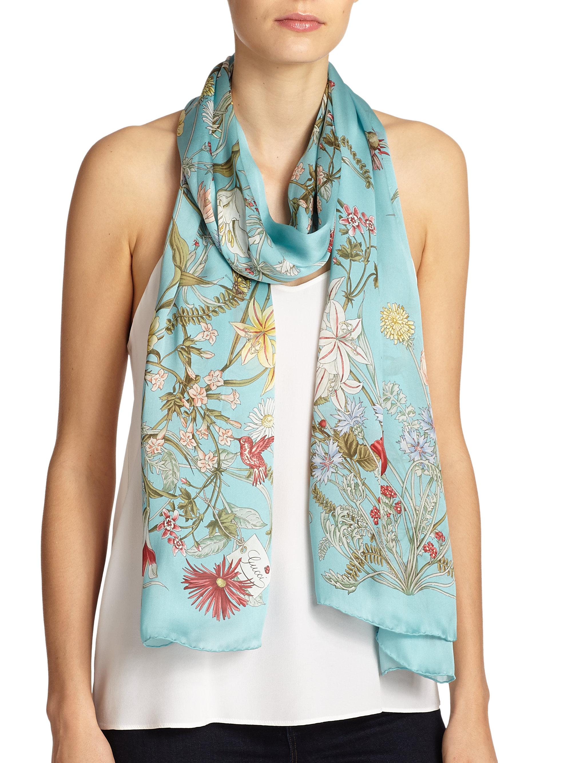 GG floral silk shawl Gucci uyPeyLJgay