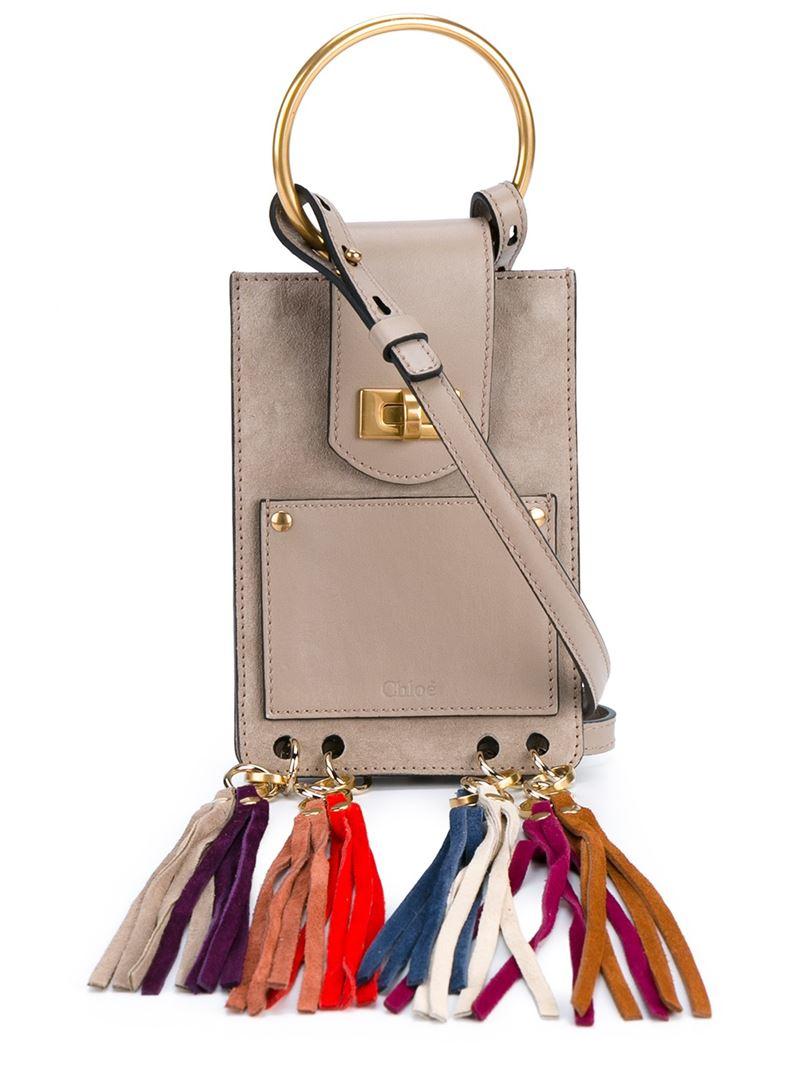 Chlo�� Jane Cross-Body Bag in Beige (GREY) | Lyst