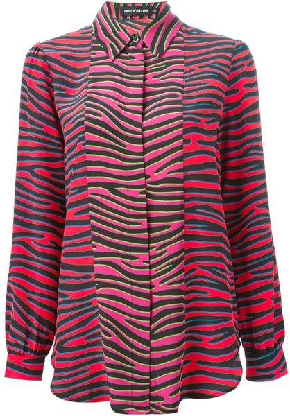 Zebra Print Silk Blouse 71
