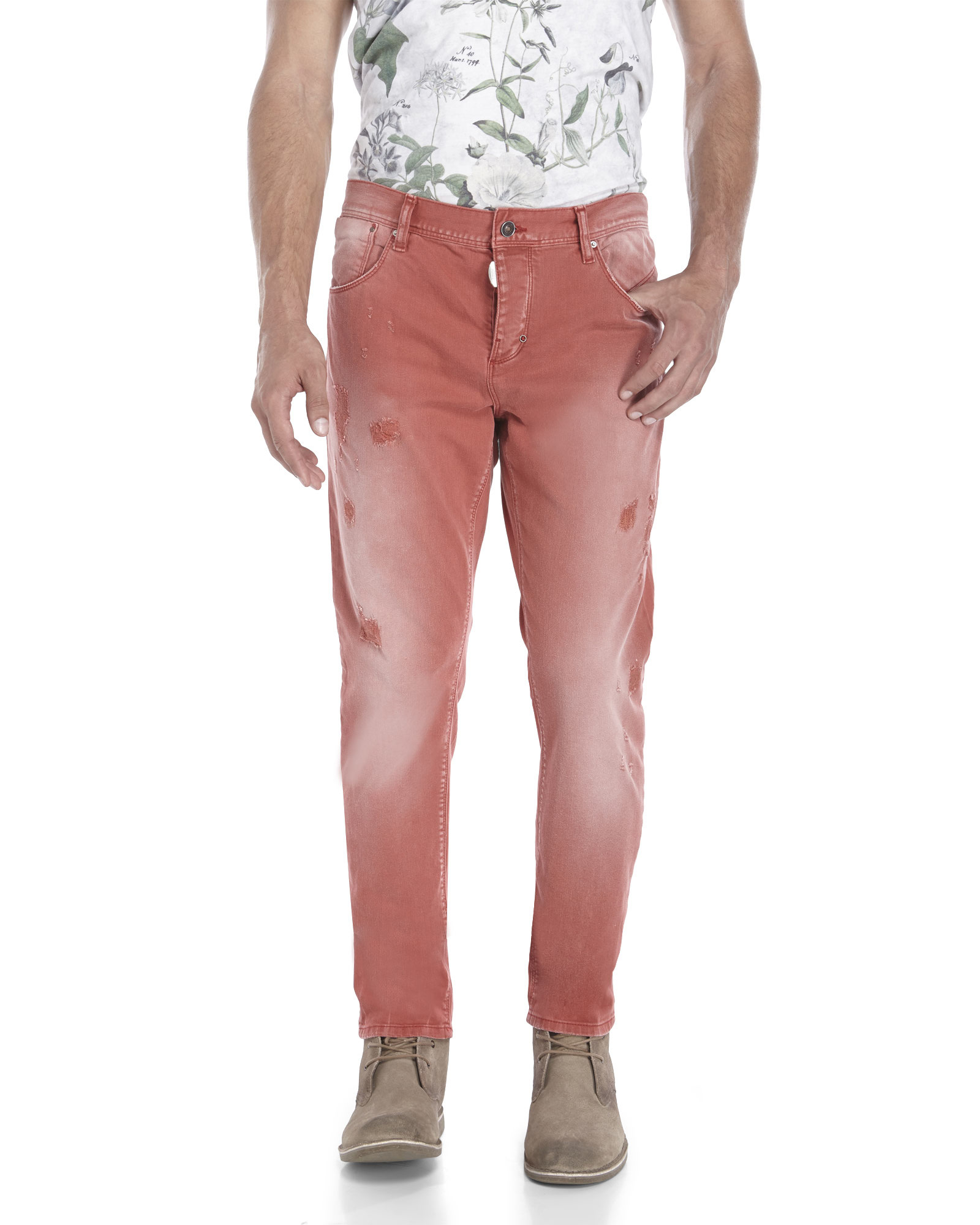 Lyst - Antony Morato Brick Red Duran Carrot Fit Jeans in Red for Men 536880bba7b