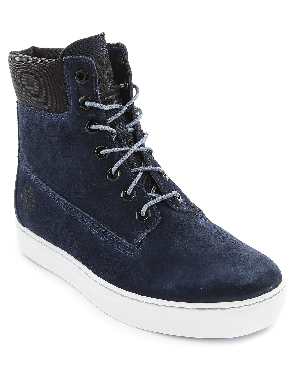 timberland navy cupsole hi suede sneaker in blue for men. Black Bedroom Furniture Sets. Home Design Ideas