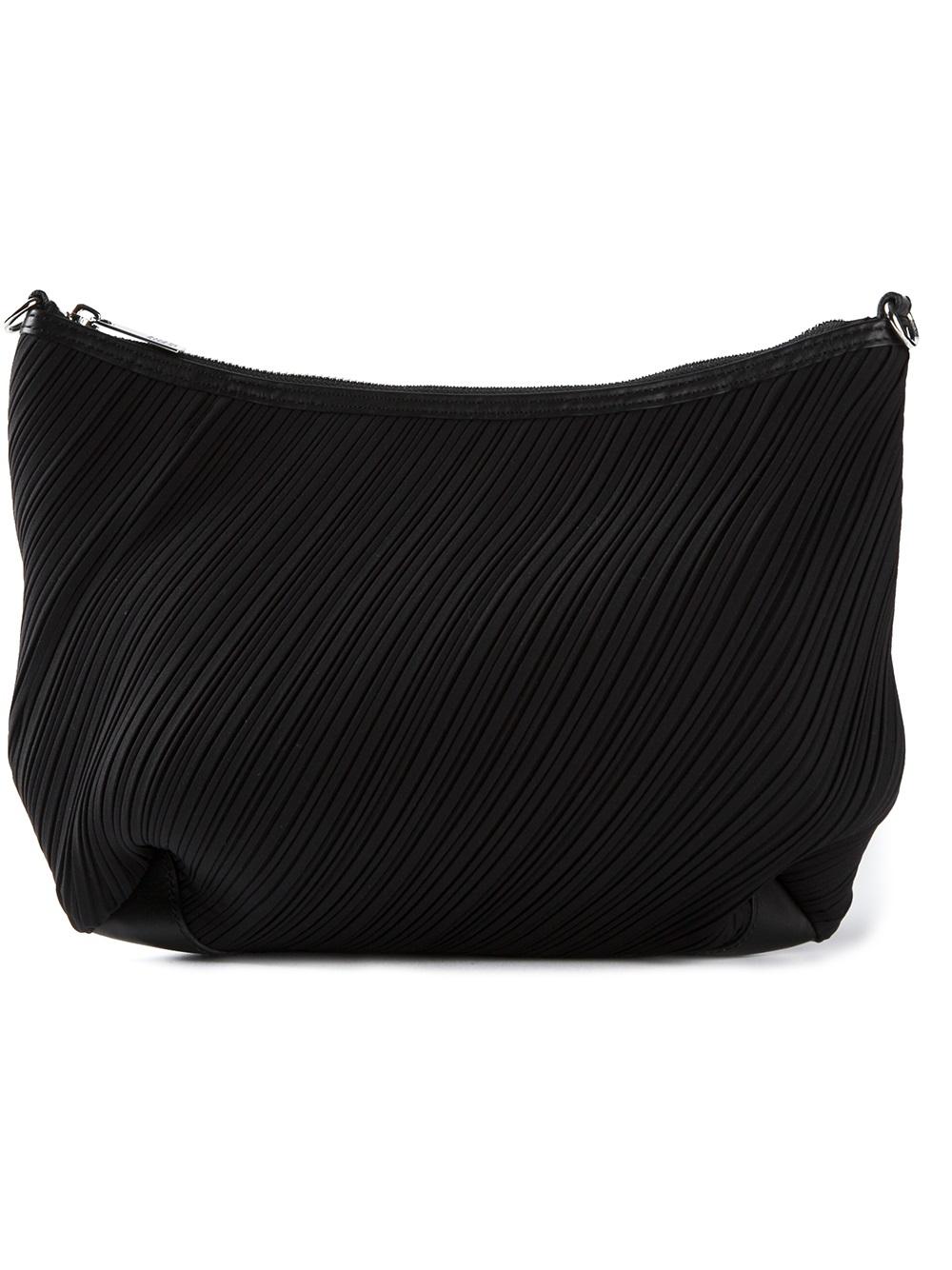 Lyst Pleats Please Issey Miyake Pleated Shoulder Bag In