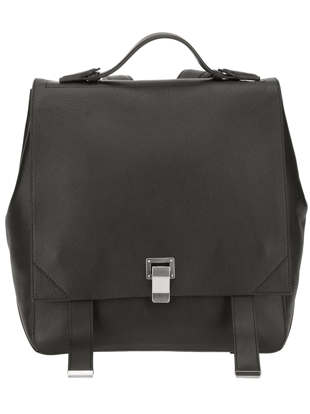 Lyst Proenza Schouler Ps Courier Backpack In Black