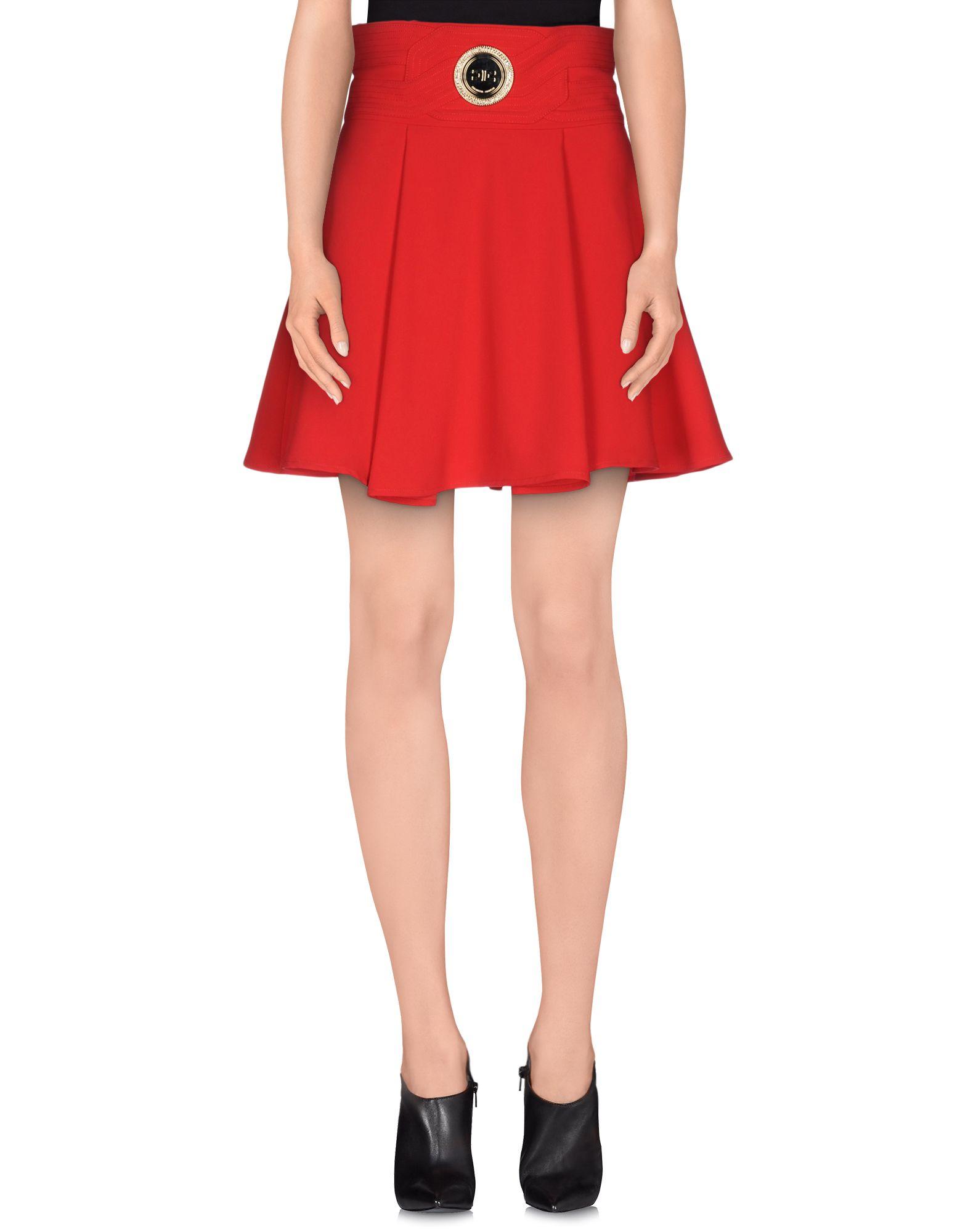 Elisabetta franchi Knee Length Skirt in Red | Lyst