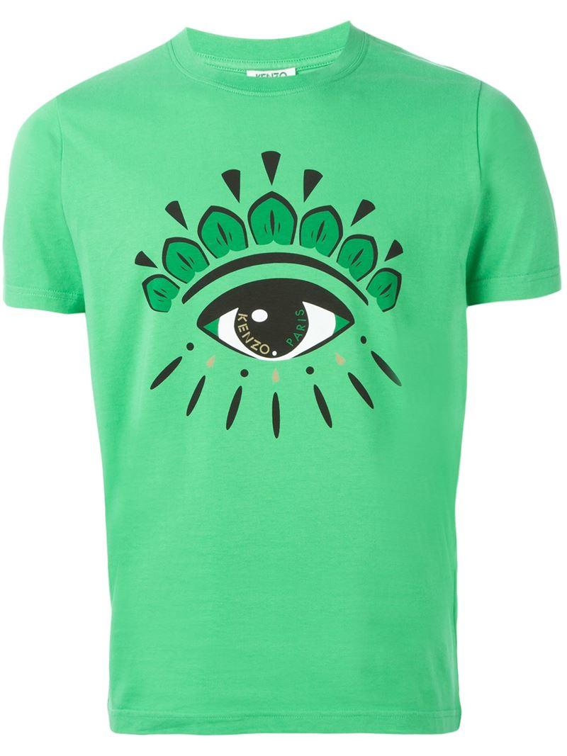 3df41b7e81ff7 Kenzo 'eye' Shirt For T In Men Green Lyst WDI29EHY