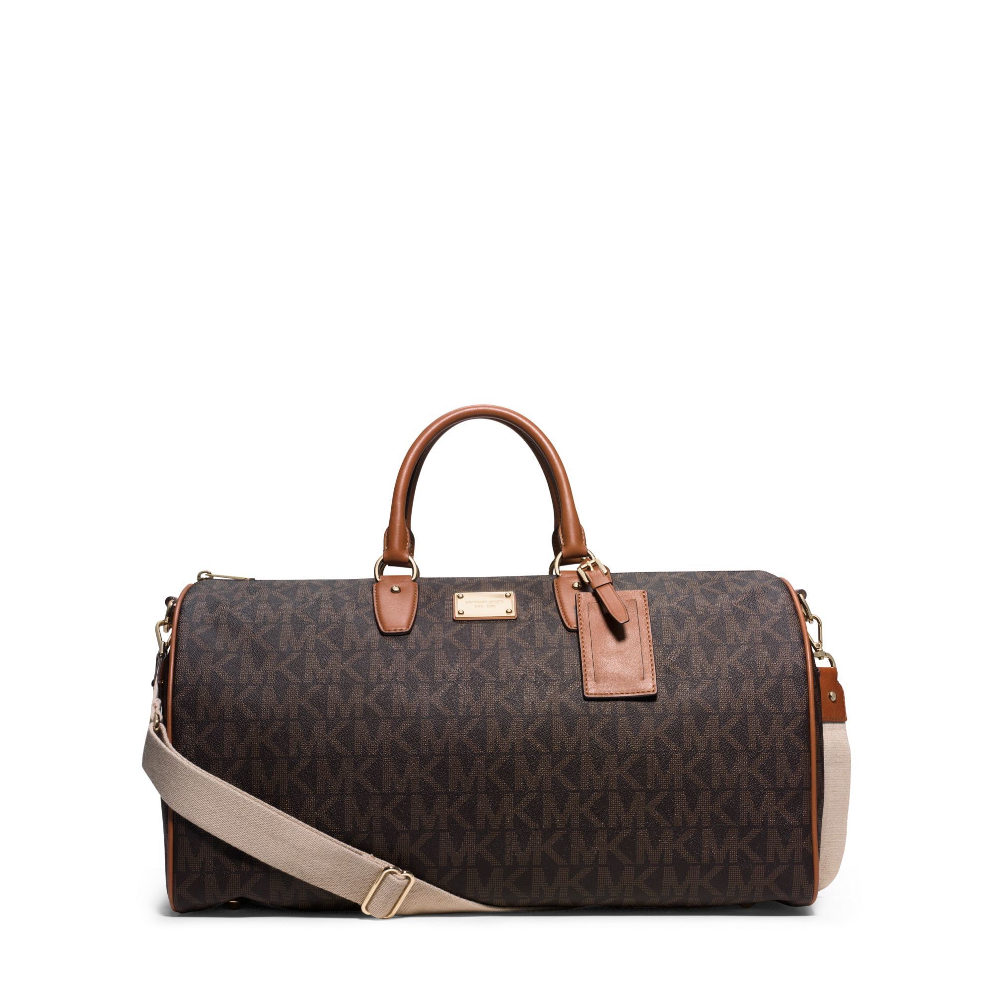 Lyst Michael Kors Jet Set Travel Weekender In Brown Jetset Lugagge Authentic Gallery