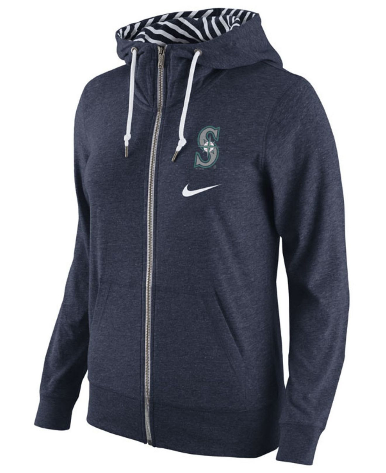 Nike Women's Seattle Mariners Gym Vintage Full-zip Hoodie in Blue ...