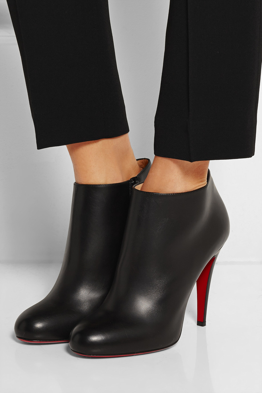53e8c536b5d Christian Louboutin Belle 100 Leather Ankle Boots in Black - Lyst