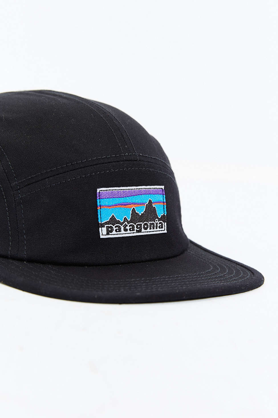 Lyst - Patagonia Retro Fitz Roy Label 5-panel Baseball Hat in Black ... f19d764d833d