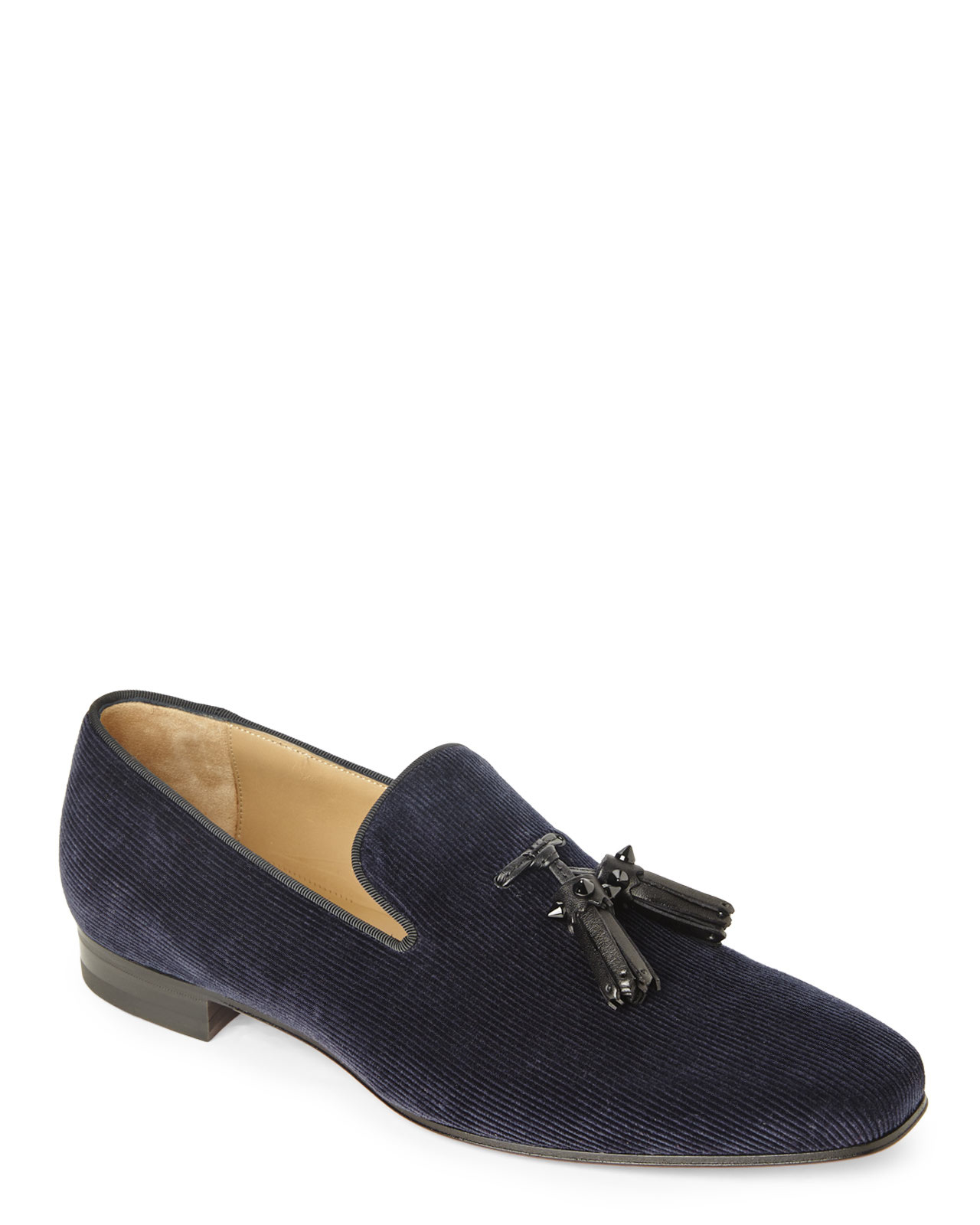 Lyst - Christian Louboutin Navy Dada Loafers in Blue for Men 2ffb3fa6274c