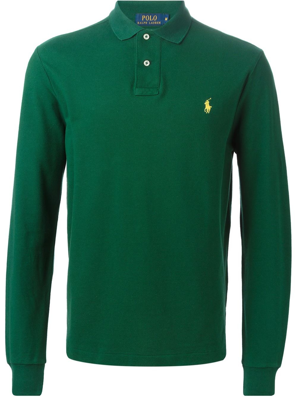 polo ralph lauren logo polo shirt in green for men lyst. Black Bedroom Furniture Sets. Home Design Ideas