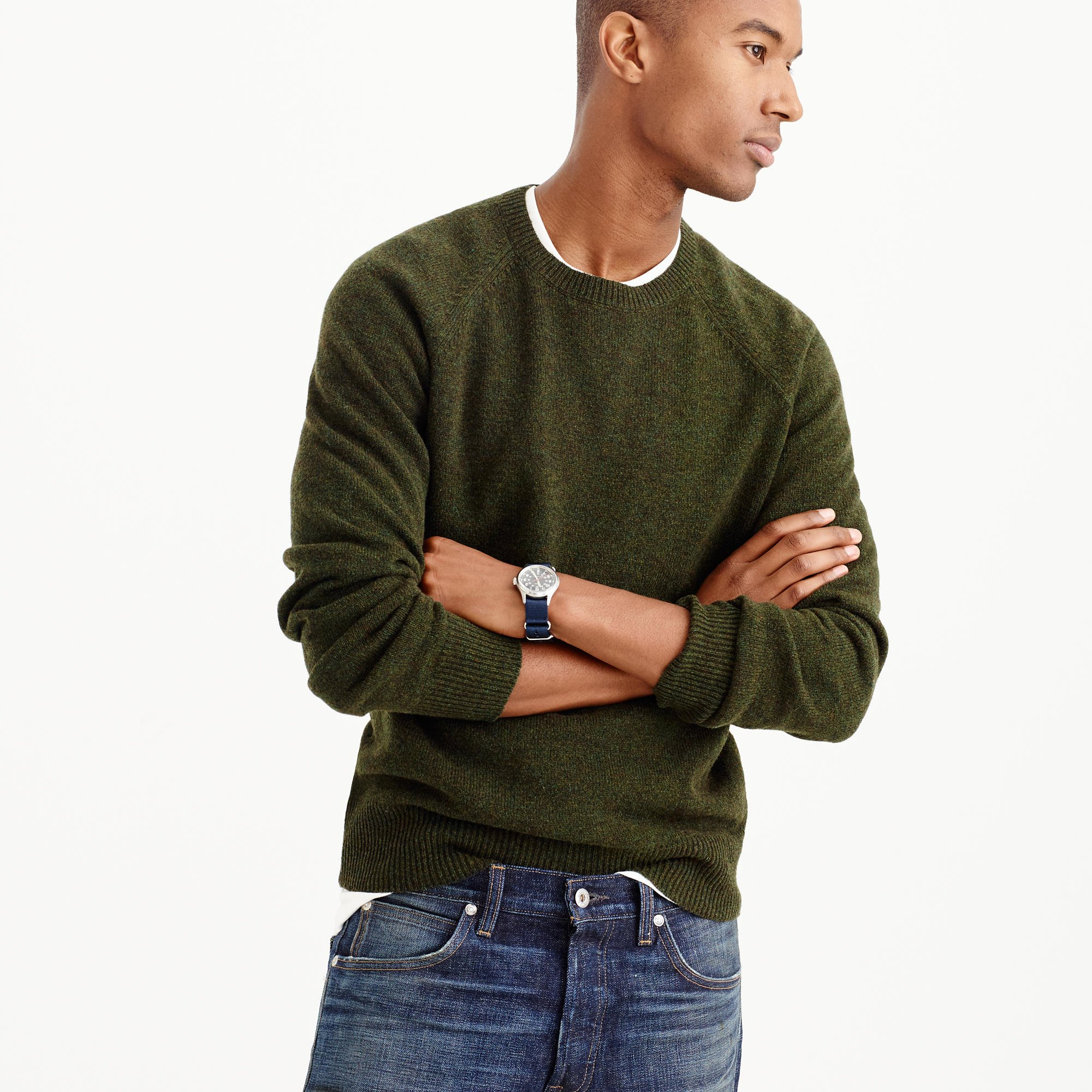 6bbfbb6a7 Lyst - J.Crew Tall Lambswool Sweater in Green for Men