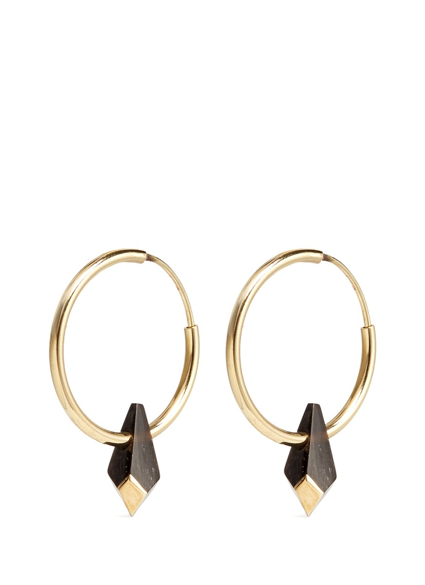 Gold Double Circle Earrings Isabel Marant DnbdasMGm