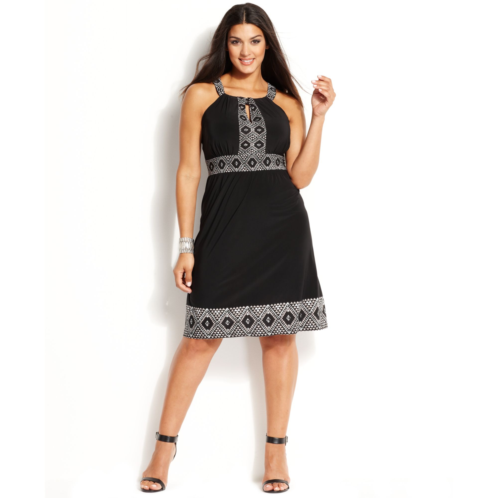 Plus Size Black Halter Dress – Fashion dresses