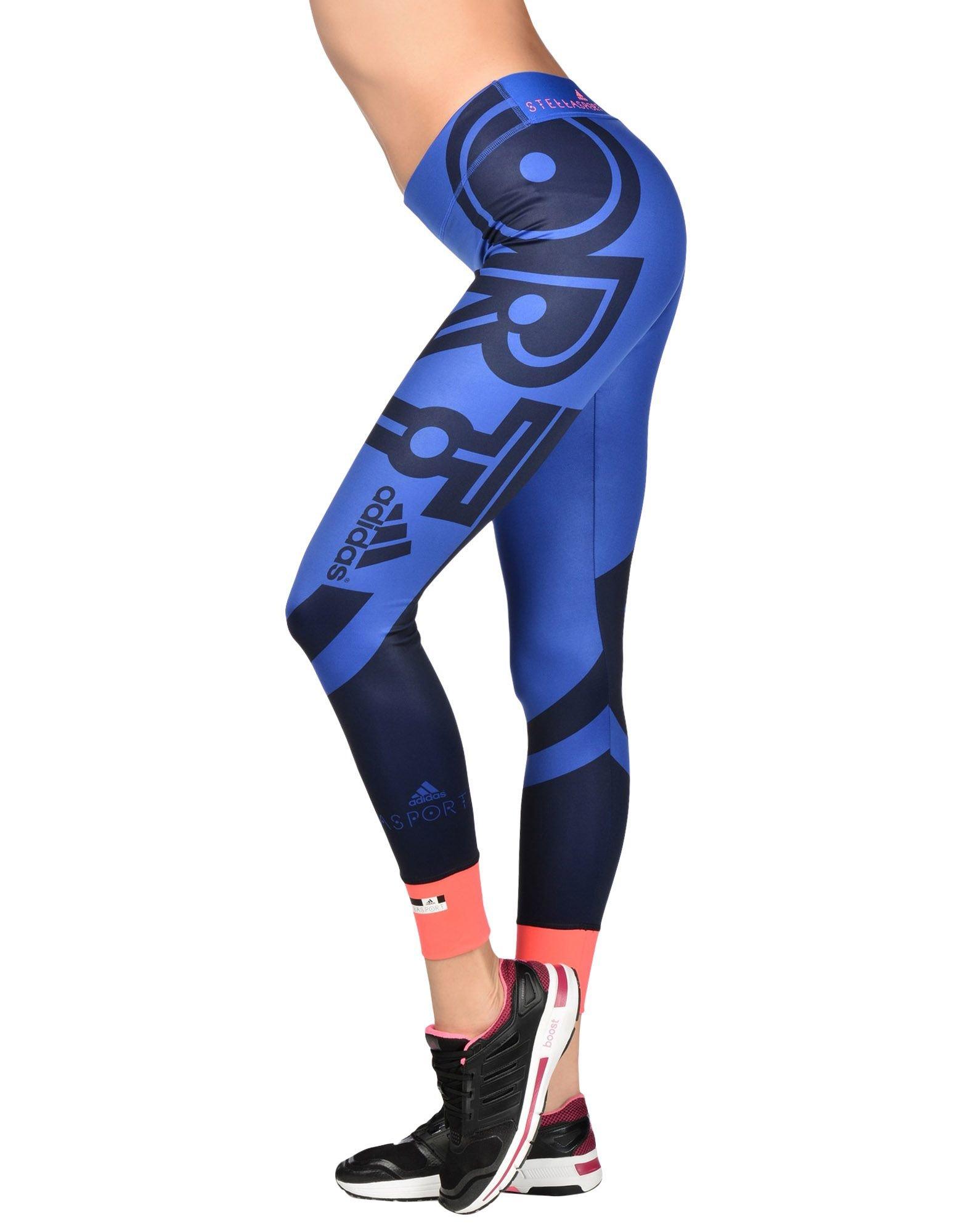 adidas by stella mccartney leggings in blue lyst. Black Bedroom Furniture Sets. Home Design Ideas