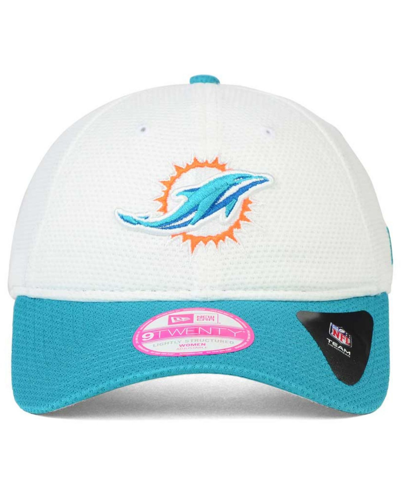 Women's Miami Dolphins Nike White/Aqua Home & Away V-Neck Tri-Blend T-Shirt