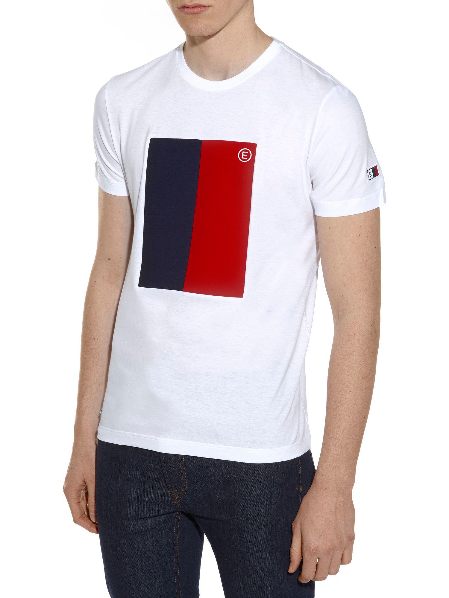 lacoste marine flag tshirt in white for men lyst